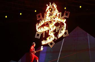 冬运会圣火燃亮冰雪地