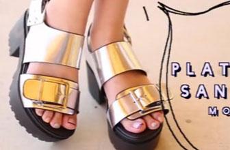 厚底凉鞋的四种搭配法