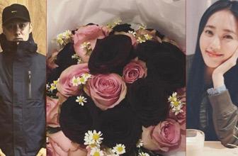 送黑玫瑰?余文乐女友晒礼物